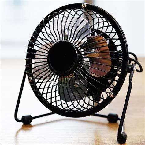 mini portable usb fan quiet desktop desk silent cooler