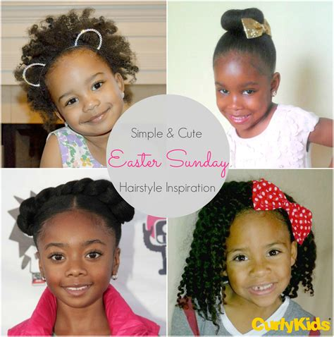 These cute hairstyles for easter are are easy to recreate at home, so the only thing you have to worry about is pairing the 'do with the perfect holiday dress. Simple and Cute Easter Sunday Hairstyle Inspiration   CurlyKids Hair Care