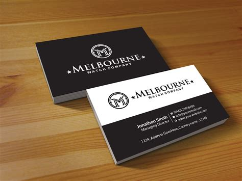 Business Card Design For Melbourne Watch Company Pty Ltd Business Card Name Generator Office Depot Sheet Organizer Program Sheets Alphabetical Credit No Cards When Networking Best Printers Nyc