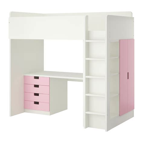 ikea pink and white dresser stuva loft bed with 4 drawers 2 doors white pink ikea