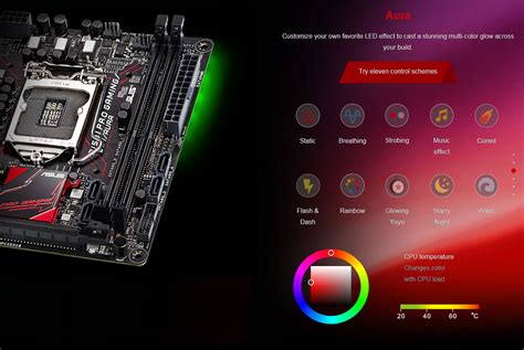 casing asus asus b150i pro gaming wifi aura rgb motherboard review