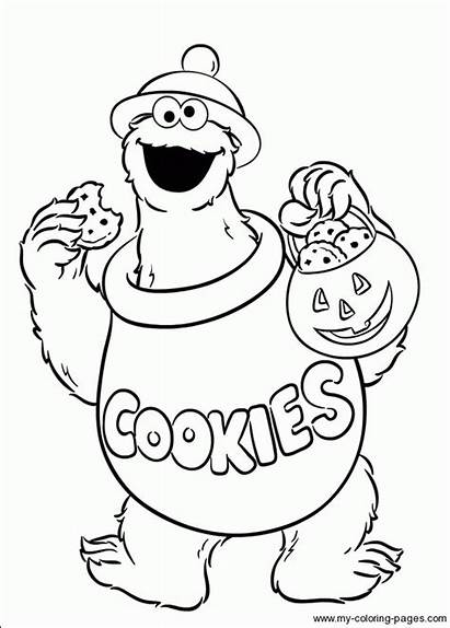 Cookie Monster Coloring Pages Sesame Street Elmo