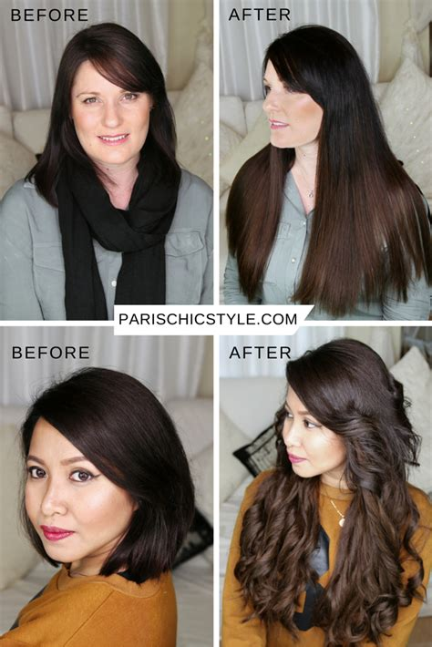 Black Hair To Before And After Pictures by Hairstyles With Extensions Before And After Fade Haircut