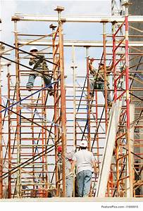Image Of Construction Workers In Scaffolding
