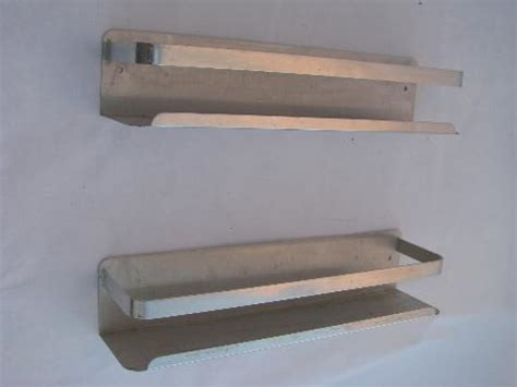 Aluminum Spice Rack by Vintage Kitchen Pantry Spice Jar Racks Retro 1950s Mod