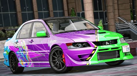 mitsubishi evolution mitsubishi lancer evolution ix evil empire vinyl gta5