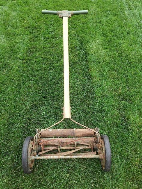 pq pennsylvania quality antique spinning reel push lawn