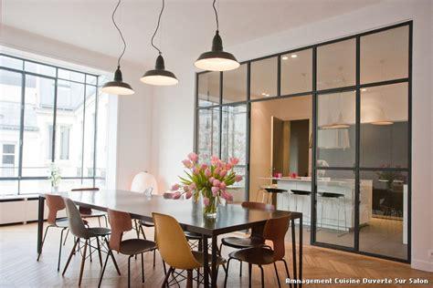 photo cuisine ouverte sur salon amnagement cuisine ouverte sur salon with contemporain