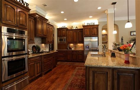 wood kitchen floors cherry kitchen cabinets with wood floors and 6466