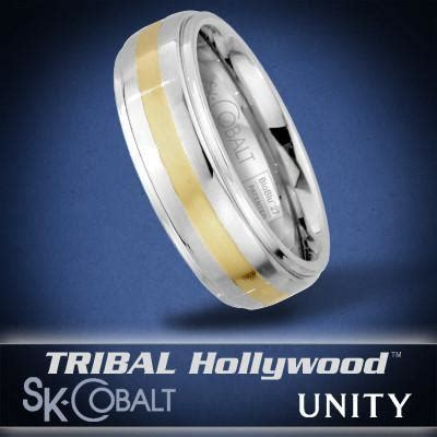 bound unity ring sk cobalt men s wedding band by tribal