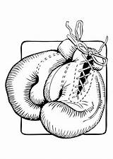 Coloring Gloves Boxing Getcolorings sketch template