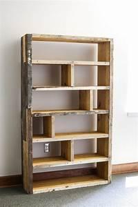 Diy, Rustic, Pallet, Bookshelf