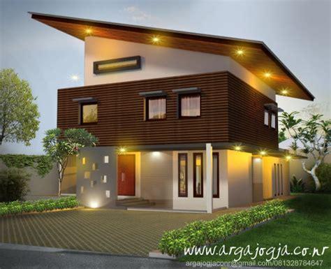 desain fasad unik minimalis tropis rumah  lantai atap