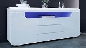 Bahut Blanc Laqué Pas Cher : bahut design lumineux blanc 2 portes 3 tiroirs nao gdegdesign ~ Teatrodelosmanantiales.com Idées de Décoration