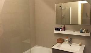 Peinture Salle De Bain Carrelage : beautiful peinture carrelage salle de bain avant apres ~ Dailycaller-alerts.com Idées de Décoration