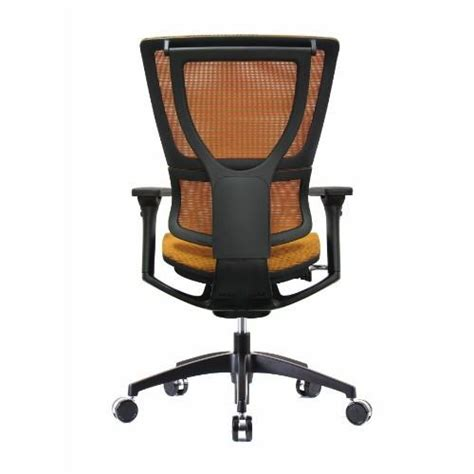 ioo eurotech office chair in bright orange mesh black