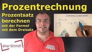 Dreisatz Berechnen : prozentrechnung prozentsatz berechnen mit formel mit dreisatz youtube ~ Themetempest.com Abrechnung