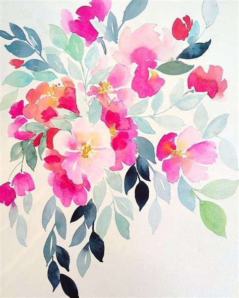 Pink Flower Painting Peony Print Art Floral Gift For Her
