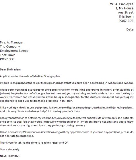 ultrasound resume cover letter exles sonographer cover letter exle icover org uk