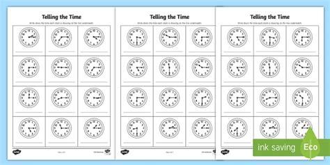 * New * O'clock, Half Past And Quarter Past Times Worksheet  Quarter Past