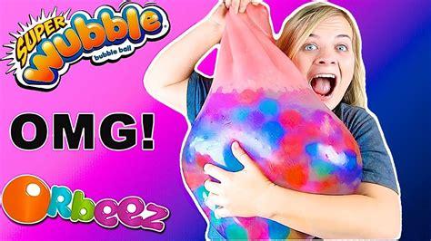 Giant Orbeez Wubble Bubble Experiment Huge Water