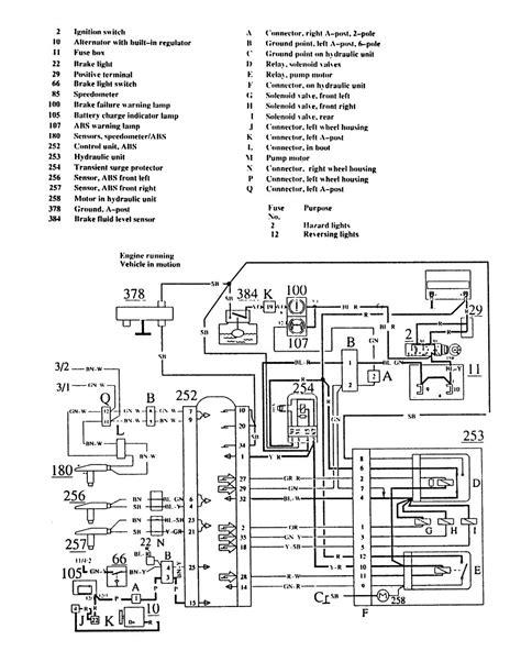 91 volvo 740 fuse box diagram volvo 740 starter wiring