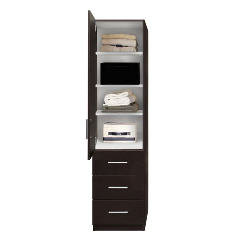 alta narrow storage closet left door 3 exterior drawers