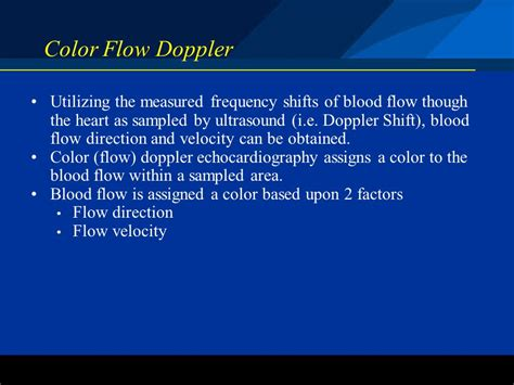 color flow doppler color flow doppler basic echocardiography modes and