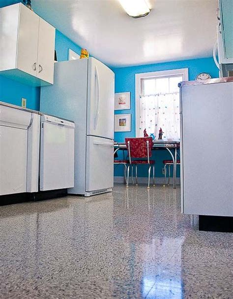 blue kitchen floor kitchen flooring with retro appeal azrock vl 130 classic 1734