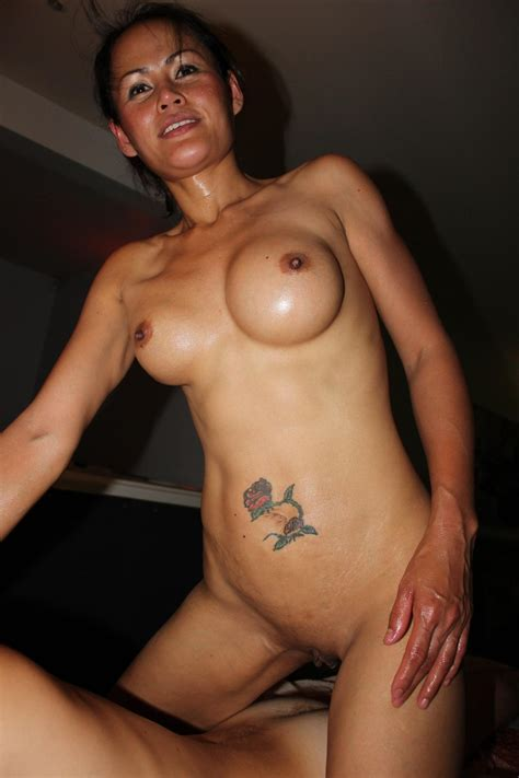thai wife enjoys getting creampied by strangers amateur shaved asian milf with tattoo enjoying