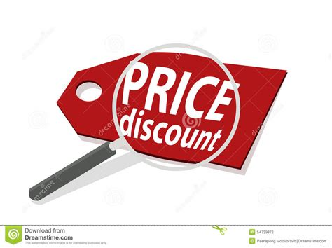 Vector Illustrator Magnify Price Discount Sale Cheap
