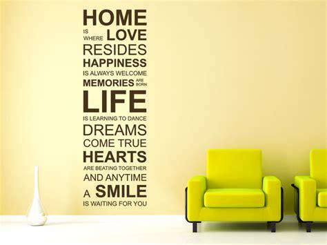 Wandtattoo Home Is Where Love... Spruch Englisch Von