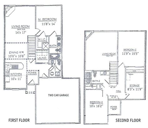 2 Story House Floor Plans With Basement Unique 3 Bedrooms