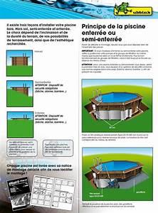 Piscine Hors Sol Acier Semi Enterrée : les 25 meilleures id es concernant piscine semi enterree ~ Premium-room.com Idées de Décoration