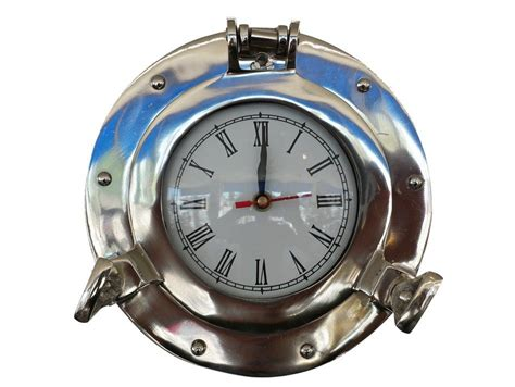 Buy Chrome Decorative Ship Porthole Clock 8 Inch
