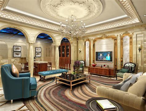 European Style Luxury Living Room Ceiling Decoration
