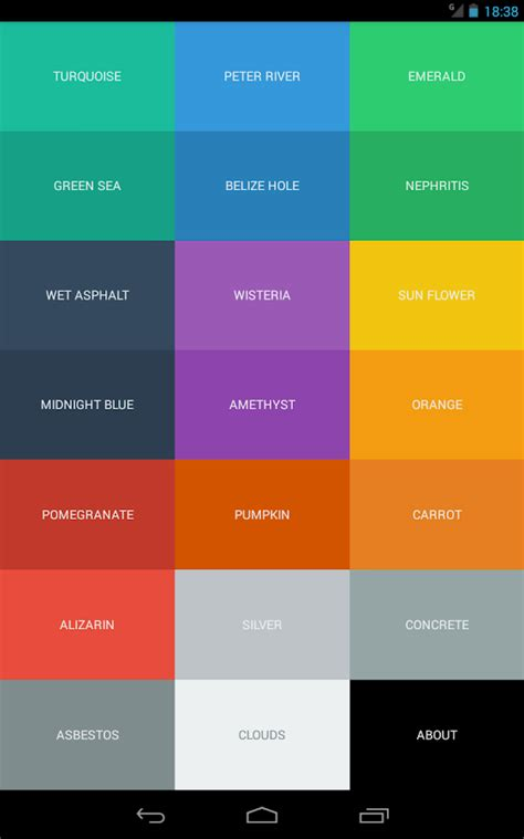 color code android apps on play