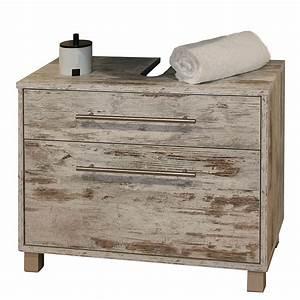 Waschbeckenunterschrank Moncton Mit Zwei Schubladen