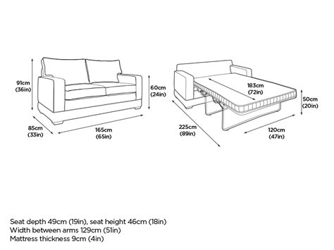 Size Sleeper Sofa Dimensions by Size Sleeper Sofa Dimensions Modern Bed