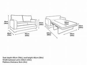 Sofa bed dimensions creative of sleeper sofa dimensions for Sofa bed dimensions unfolded