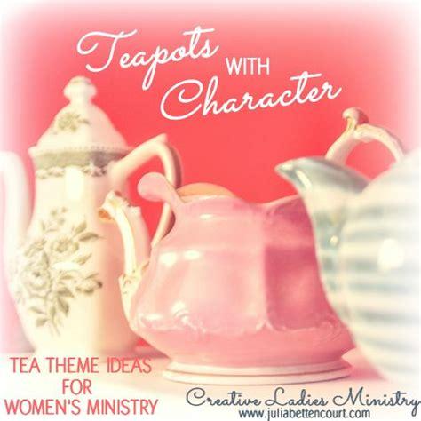 tea pots  character  cute ladies  theme church
