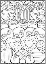 Coloring Dessert Pages Printable Desserts Adult Sheets Valentine Creative Designer Dover Books Valentines Birthday Haven Publications Colouring Candy Samples Designs sketch template