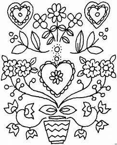 Herz Mit Blumen : herz mit blumen ausmalbild malvorlage blumen ~ Frokenaadalensverden.com Haus und Dekorationen