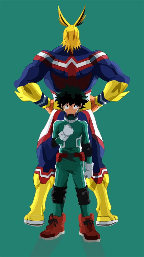 The strongest hero which you can redeem in 2021. #324451 Izuku, All Might, My Hero Academia, 4K phone HD ...
