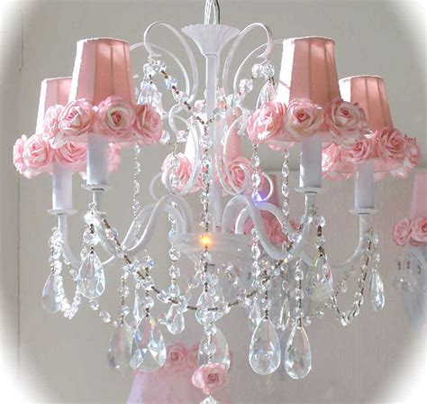 pink chandelier shade with roses rosenberryrooms