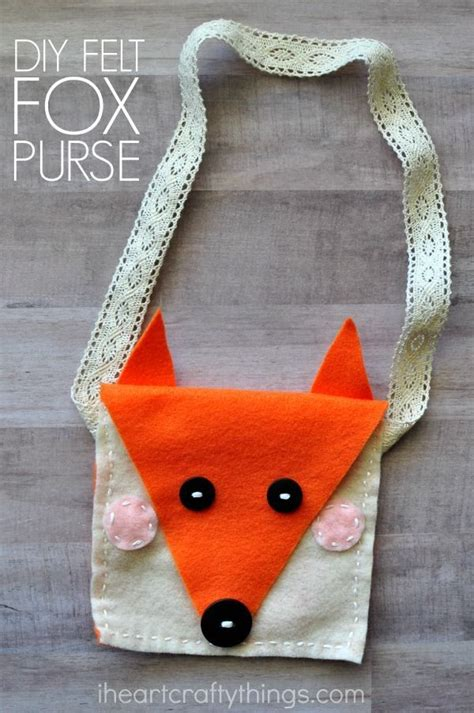 diy felt fox purse kids sewing craft sewing  kids