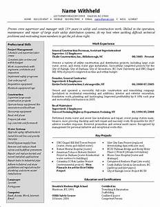 crew supervisor resume example sample construction resumes With construction resumes online