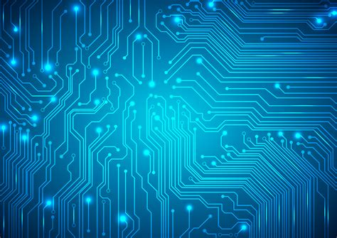 Technological Vector Background With Circuit Board