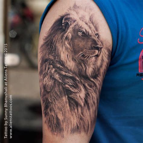 Amazing Lion Tattoo By Sunny Bhanushali At Aliens Tattoo