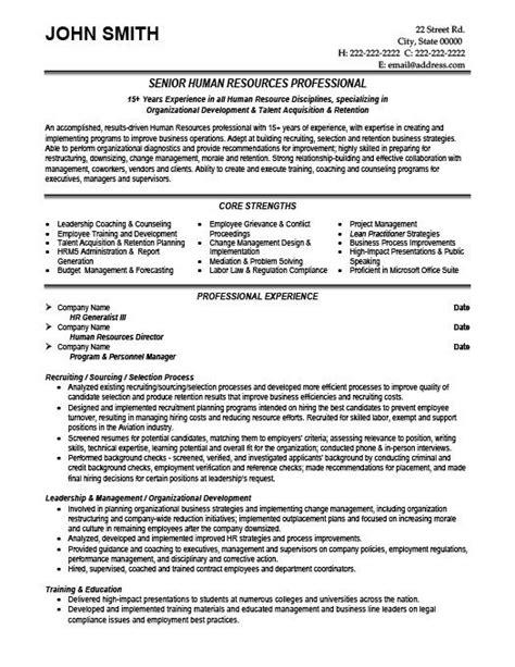 Hr Resume Template by Senior Hr Professional Resume Template Premium Resume